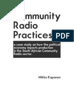 Community Radio Practices