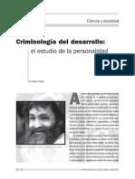 Criminologia social , criminologia del desarrollo