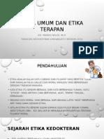 Etika Umum Dan Etika Terapan