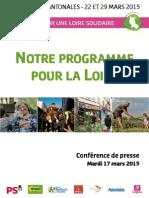 """Dossier de Presse - Programme départemental """"Ensemble, pour une Loire solidaire"""""""