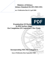 NES 353 Examination of Machinery in HM Surface Ships on Completion of Contractor's Sea Trials