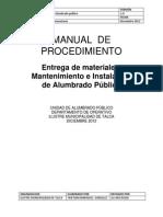 Manual de Procedimientos Alumbrado Publico