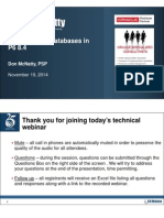 DRM Nov Technical Webinar Working With Databases in P6 8.4 Final
