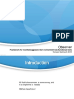 Observer Tomasz StObserver Framework for monitoring production environment via functional testselmach