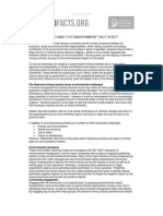 Diamond Mining Environment Fact Sheet