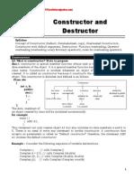 Chapter 3 Constructors and Desctructors