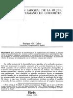 Gil Calvo: Participación Laboral de La Mujer , Natalidad y Tamaño d e Cohortes
