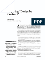 Applying Design by Contract