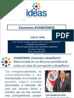 Luis E. Loria - Cerremos AVANCEMOS