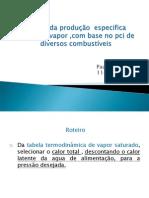 Calculo Do Rendimento Especifico de Vapor PDF