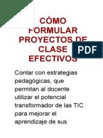Cómo Formular Proyectos de Clase Efectivos