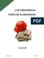 Plano de Emergencia Fases de Elaboracao