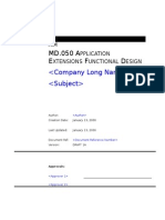 C-md-050 Application Extensions Functional Design-(Md-50 Template