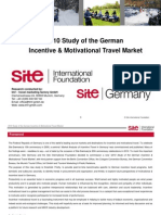 2010 Study of the German Incentive & Motivational Travel Market