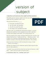 FI - Inversion of Subject