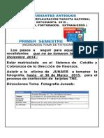 ESTUDIANTES ANTIGUOS PROCESO  DE REVALIDACIÓN TARJETA NACIONAL ESTUDIANTIL  2015 .  (PREGRADO, POSTGRADOS,   EXTRANJEROS )