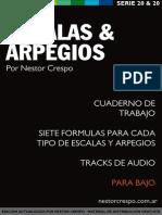 Escalas y Arpegios Bajo - Nestor Crespo