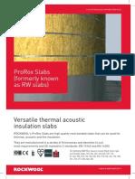 Rockwool Slab Data Sheet-(ProRox Formerly RW Slab)
