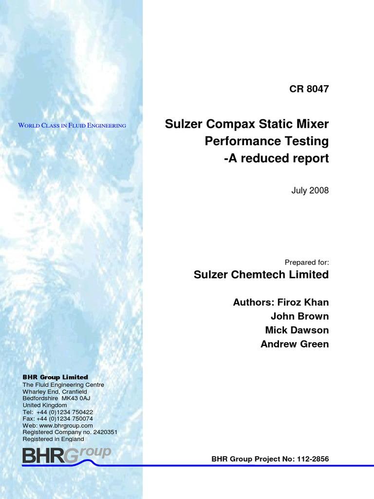 CR8047 Sulzer CompaX Short Report1 | Reynolds Number | Fluid