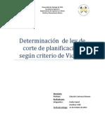 Determinacion de Ley de Corte de Planificación Segun Driterio de Vickers