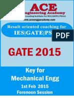 ME GATE2015 1stFeb Forenoon