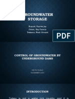 Control of Groundwater by Underground Dams