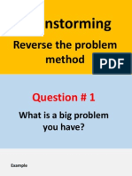 Brainstorming - Reverse the problem method