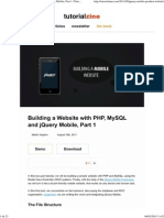 Building a Website With PHP, MySQL and JQuery Mobile, Part 1 _ Tutorialzine