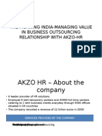 The Morning India-managing Value in Business Outsourcing Relationship