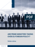 Are Prime Ministers Taking Over EU Foreign Policy?