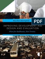 Improving Development Aid Design and Evaluation