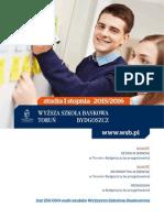 Informator 2015 - studia I stopnia - Wyższa Szkoła Bankowa w Toruniu.pdf