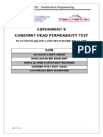 Constent Head Permeability Test