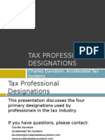 Tax Professional Designations