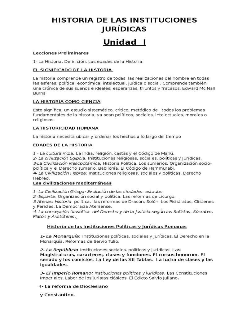 Historia de La Inst. 4 Unidades