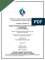 Internship report for finance person