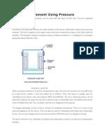 Force Measurement Using Pressure