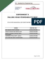 Falling Heat Permeability Test