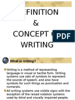Definition and Concept of Writing