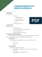 Anatomie Topographique de La Région Jambière Postérieure