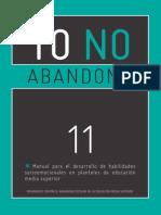 Yo No Abandono 11 - Habilidades Socioemocionales