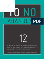 Yo No Abandono 12 - Planeación Participativa