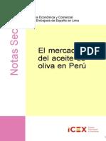 Nota Sectorial-el Mercado Del Aceite de Oliva en Peru 2013 Icex