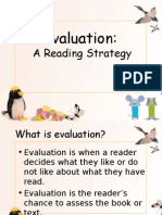 Evaluation Straegy in Reading MUET