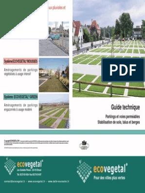 Ecovegetal Guide Technique Parkings Permeables Parking