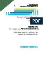 Bachillerato Tecnico Informatica. Esp. Adm. de Sistemas