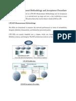 LTE KPI Measurement Methodology and Acceptance Procedure