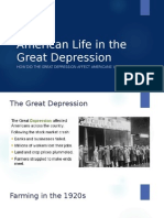 american life in the great depression