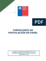 Formulario de Postulación Papel FFOIP 2015