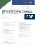 PROYECTO DE LEY QUE FORTALECE EL SISTEMA DE DEFENSA DE LA LIBRE COMPETENCIA DE CHILE